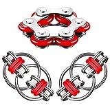 Flippy Chain Fidget Toy Set,Flippy Kette Zappeln,Stressabbaukette Spielzeug,Dekompression...